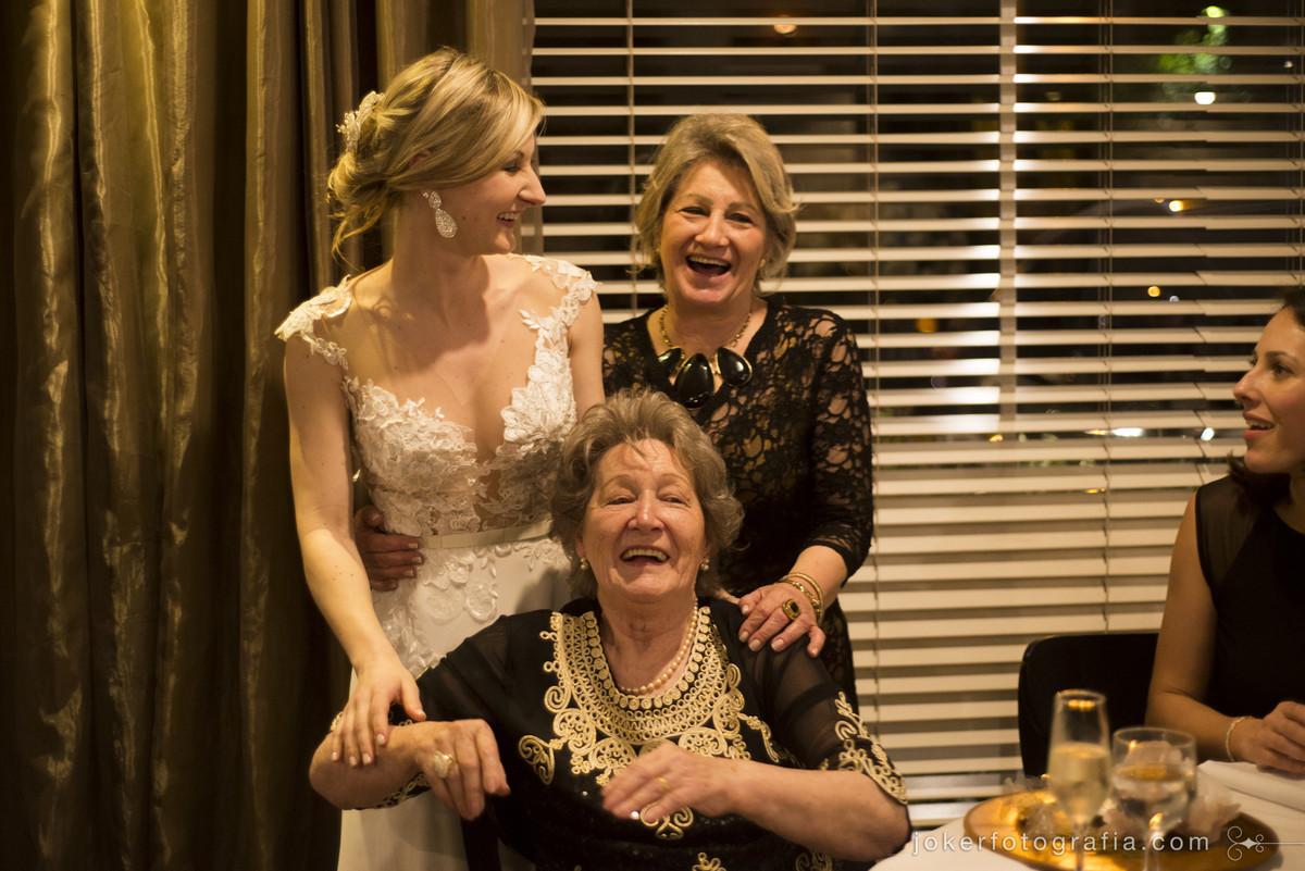 avó da noiva e mãe da noiva