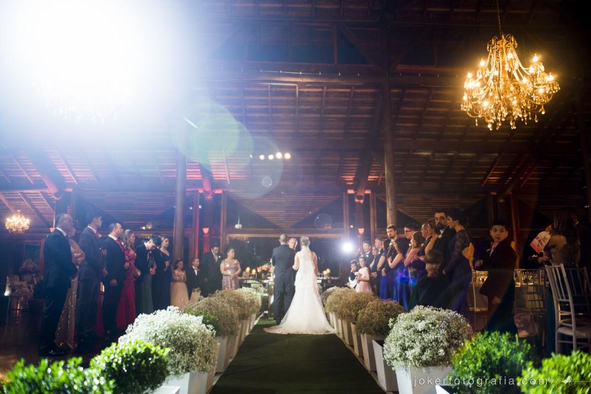 cerimônia de casamento no santa mônica clube de campo no salão CTB
