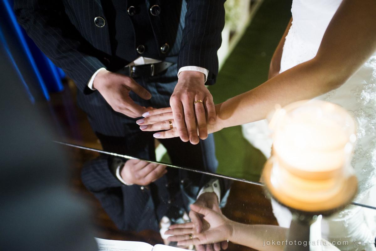 bênção das alianças de casamento