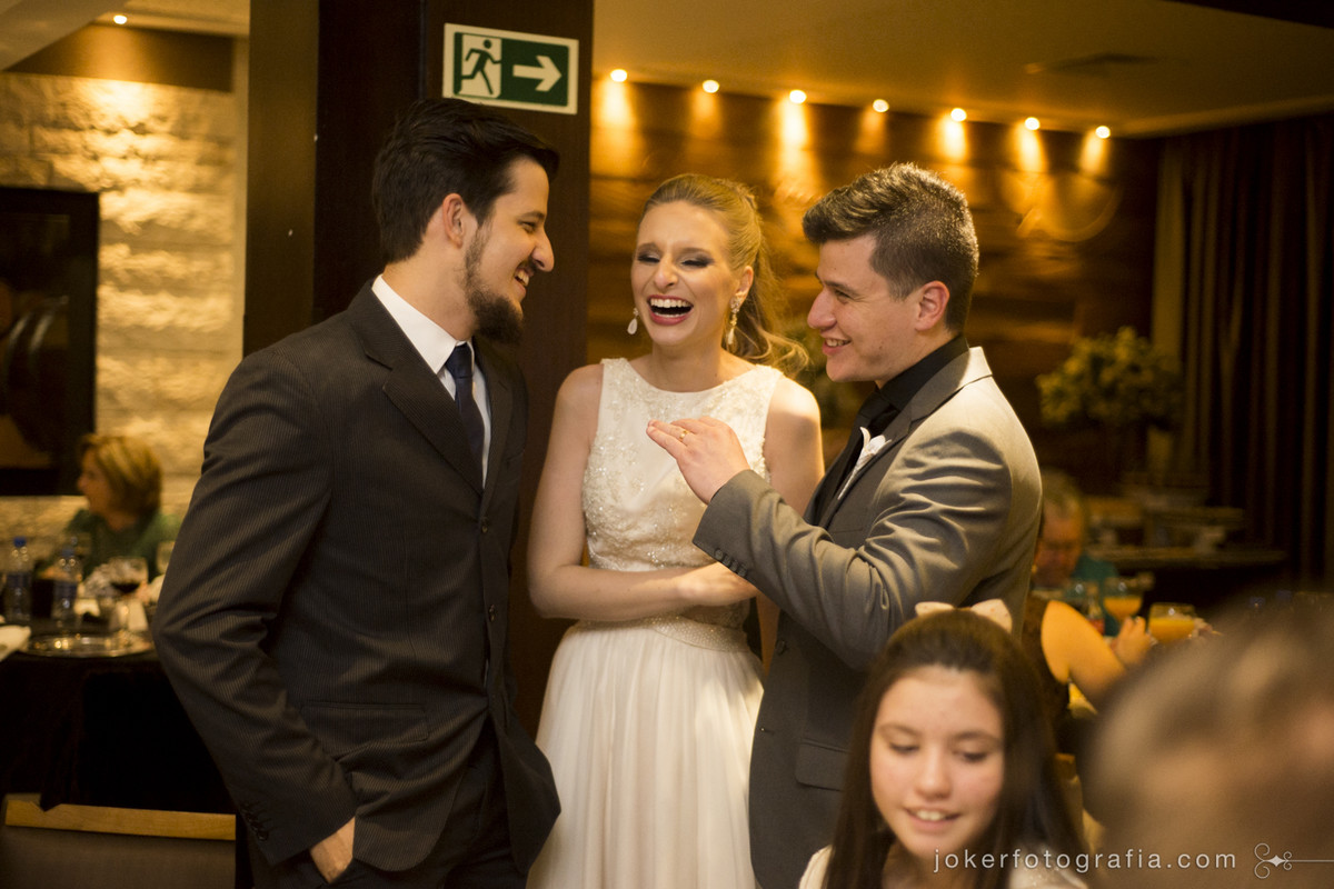 padrinhos dos noivos na festa de casamento