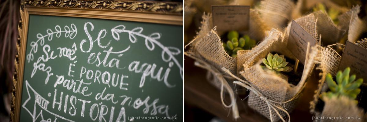 decoração de casamento utilizando quadro negro e detalhes