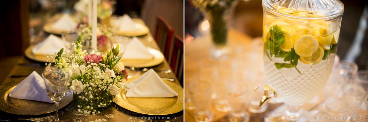 mesa de jantar para o casamento