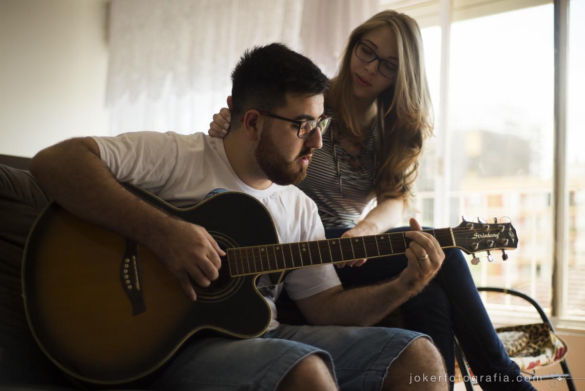 ensaio com guitarrista