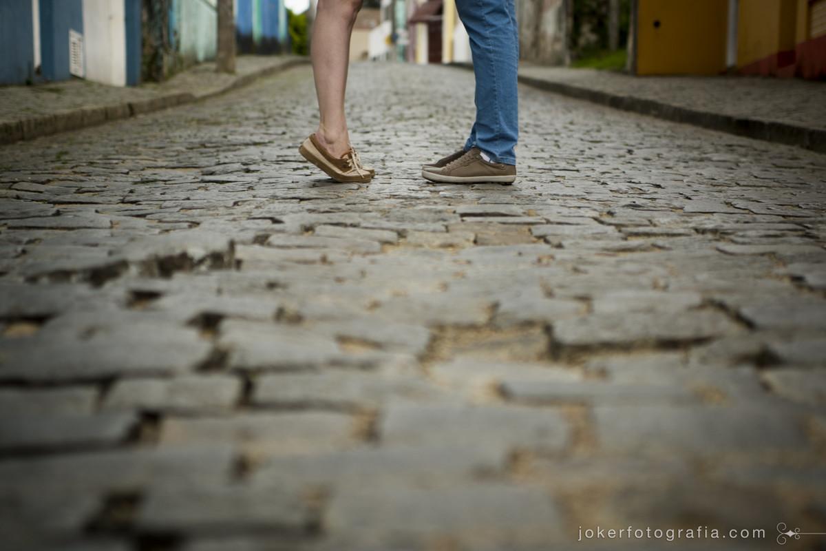 a noiva baixinha que fica na ponta do pé