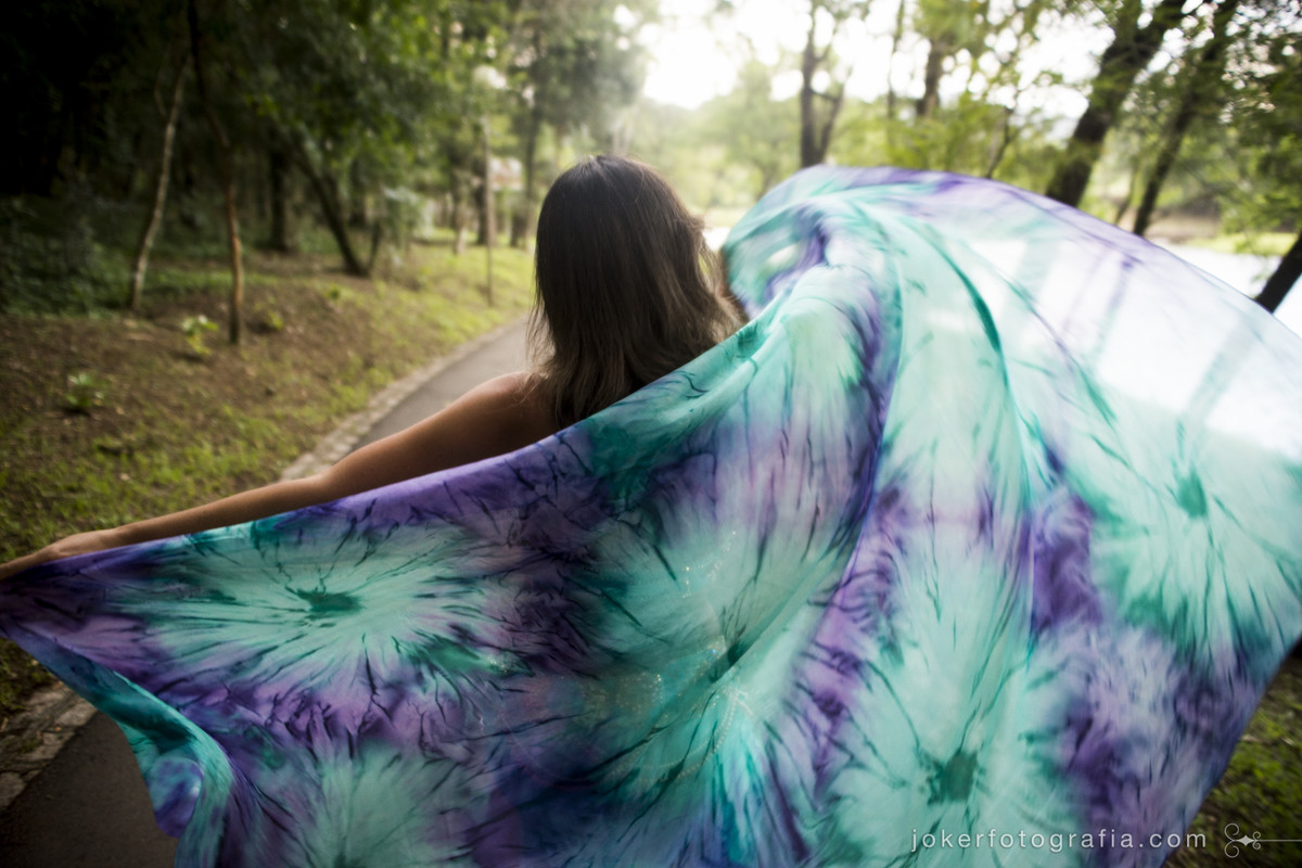 véu colorido para dança do ventre