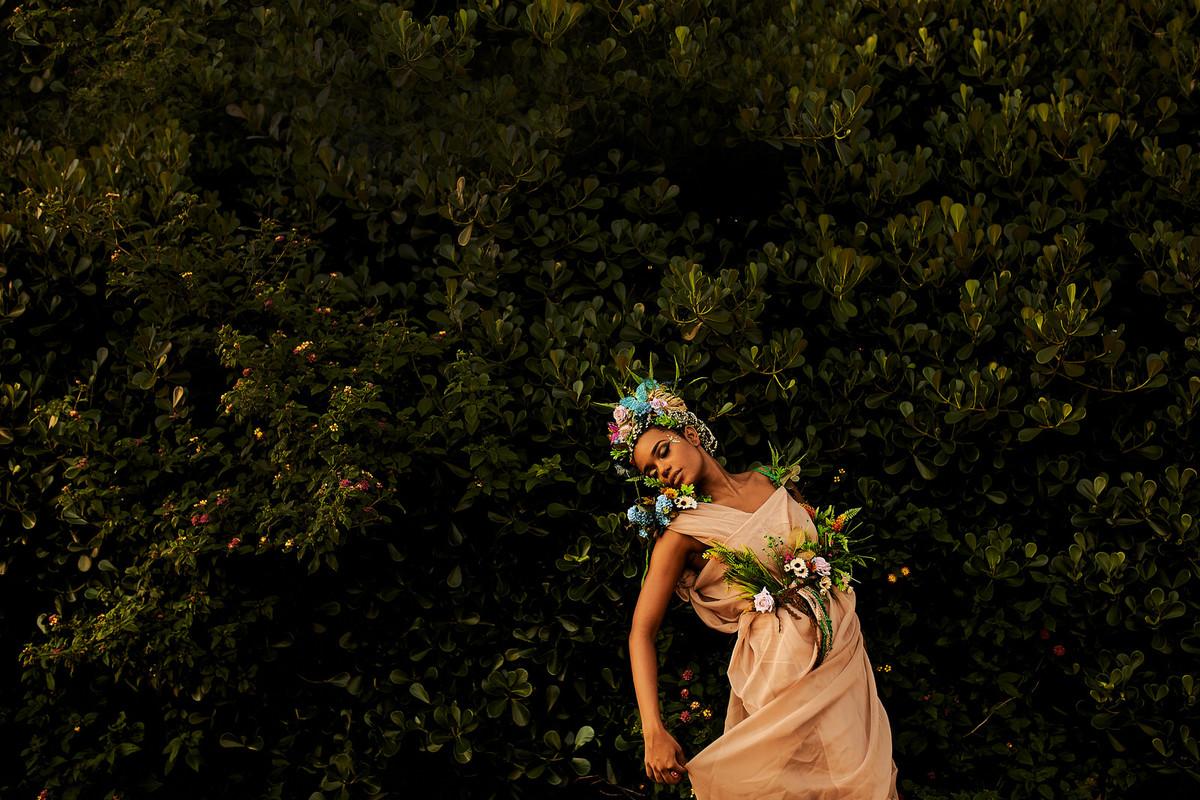 deusa ninfa floresta fotos femininas negra beleza rainha princesa fotografia ale queiroz