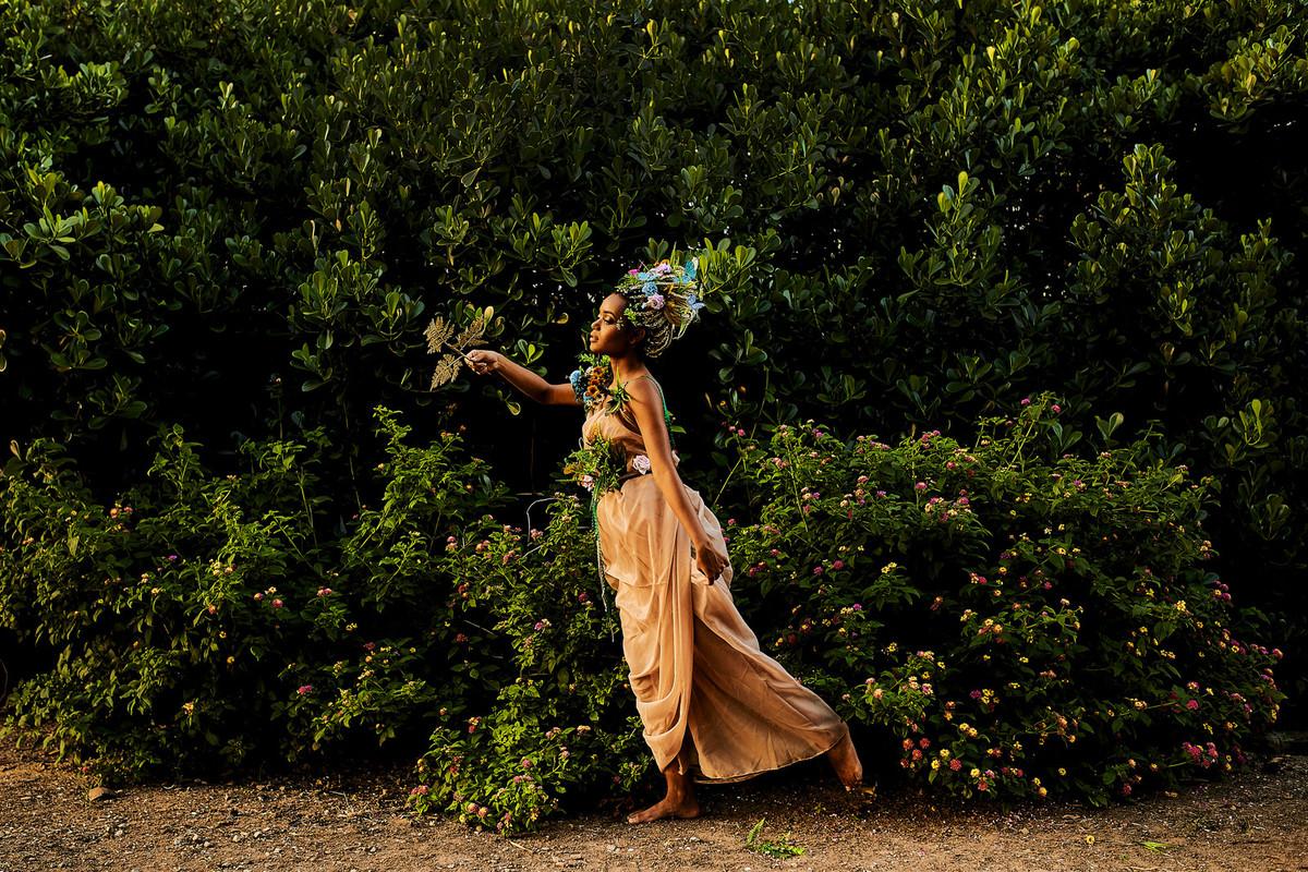 deusa ninfa floresta fotos femininas negra beleza rainha princesa fotografia ale queiroz conceitual