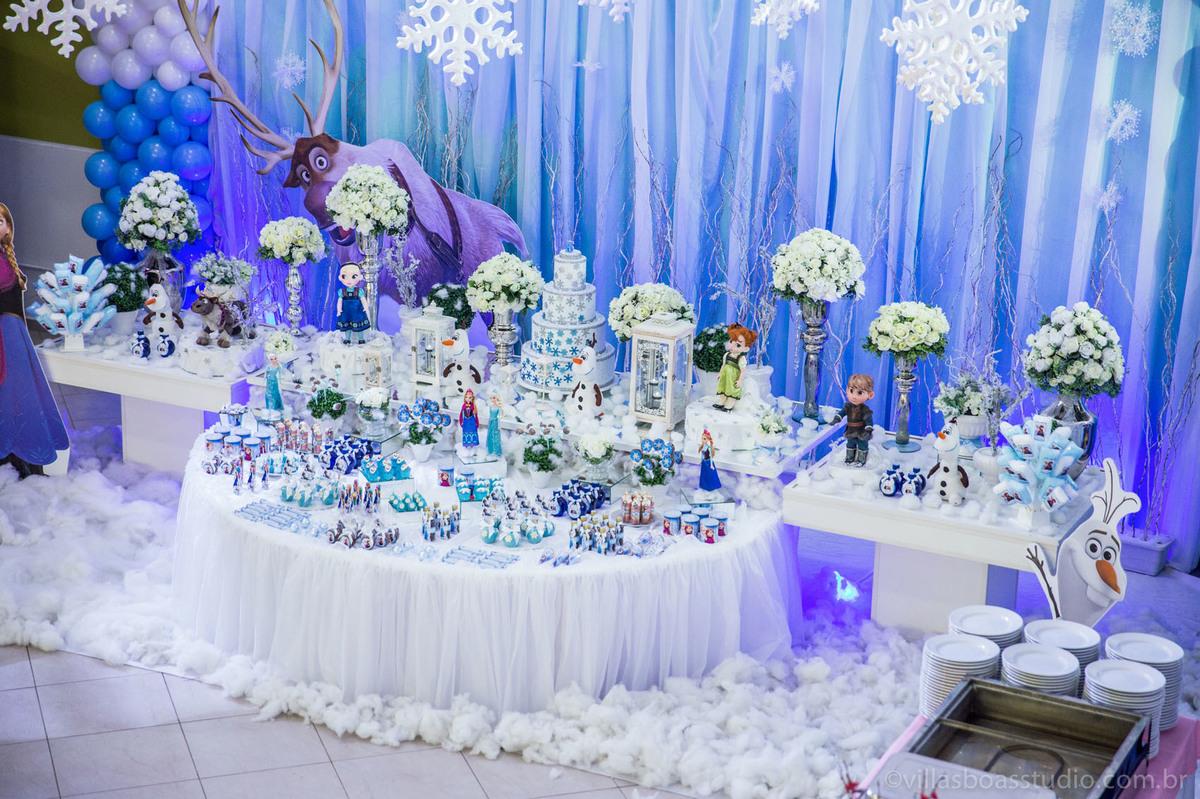 Dirce decoracoes Frozen, decoração frozen, buffet little tiger
