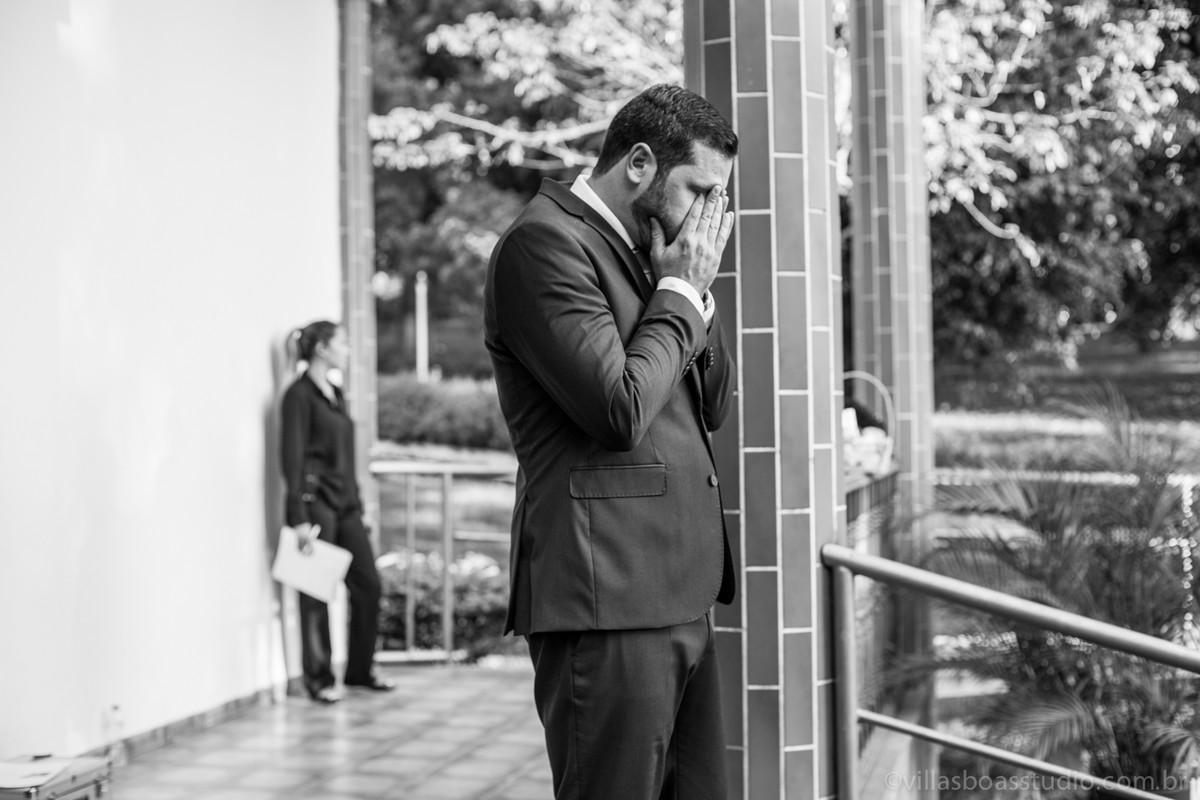 Esperando a noiva, na porta da igreja, emoção ao esperar a noiva, marcelovillasboas