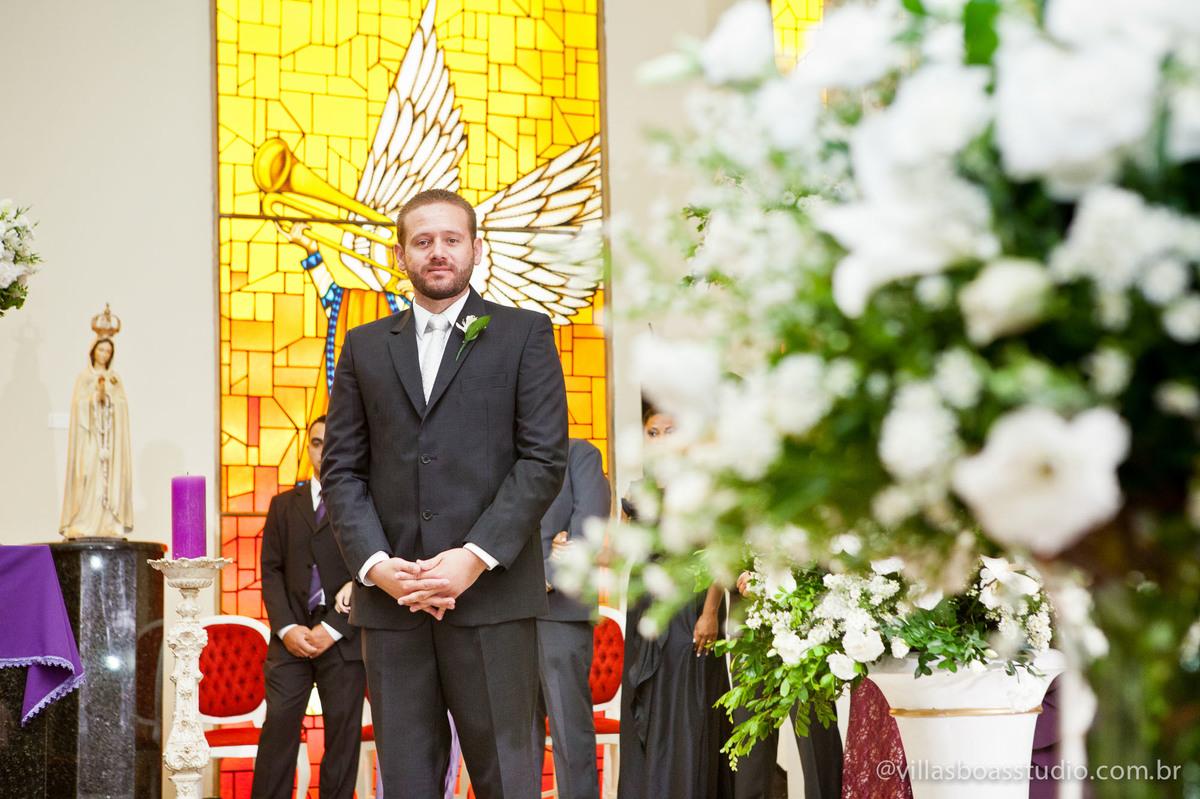 Igreja Sagrado Coração, mogi das cruzes, marcelo villas boas fotografo, @villasboasstudio, entrada do noivo, esperando a noiva