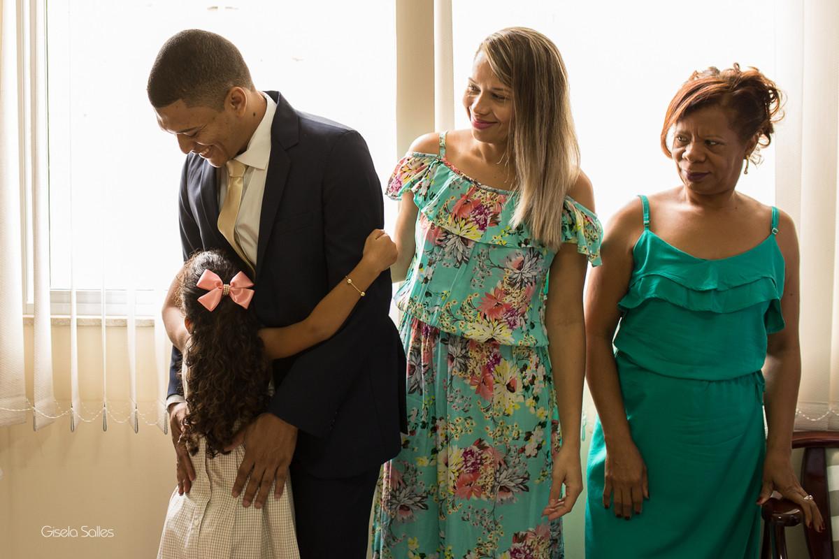 making of do noivo, noivo com a família
