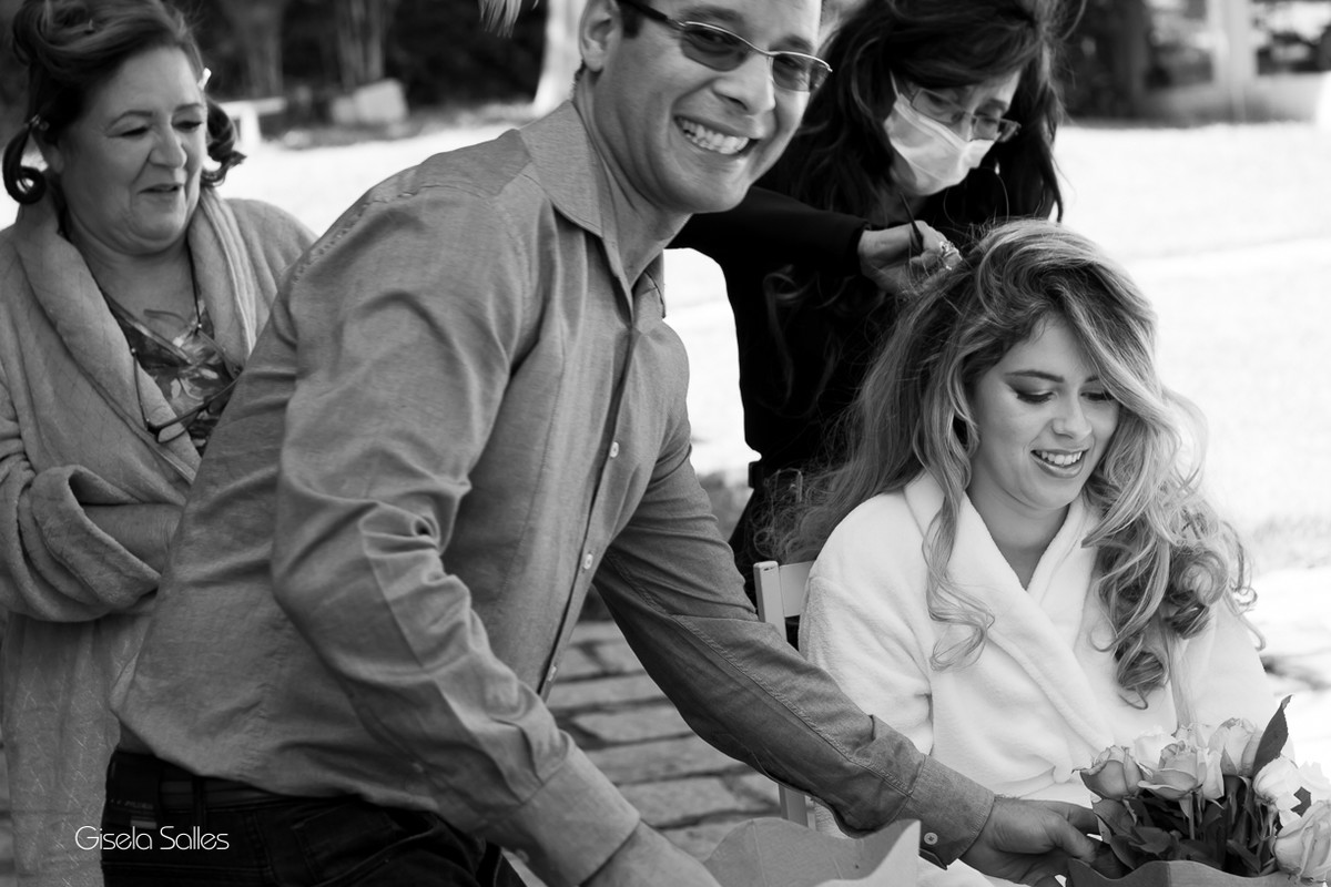 Fotografia Gisela Salles,fotografia de casamento,  making of da noiva, família da noiva