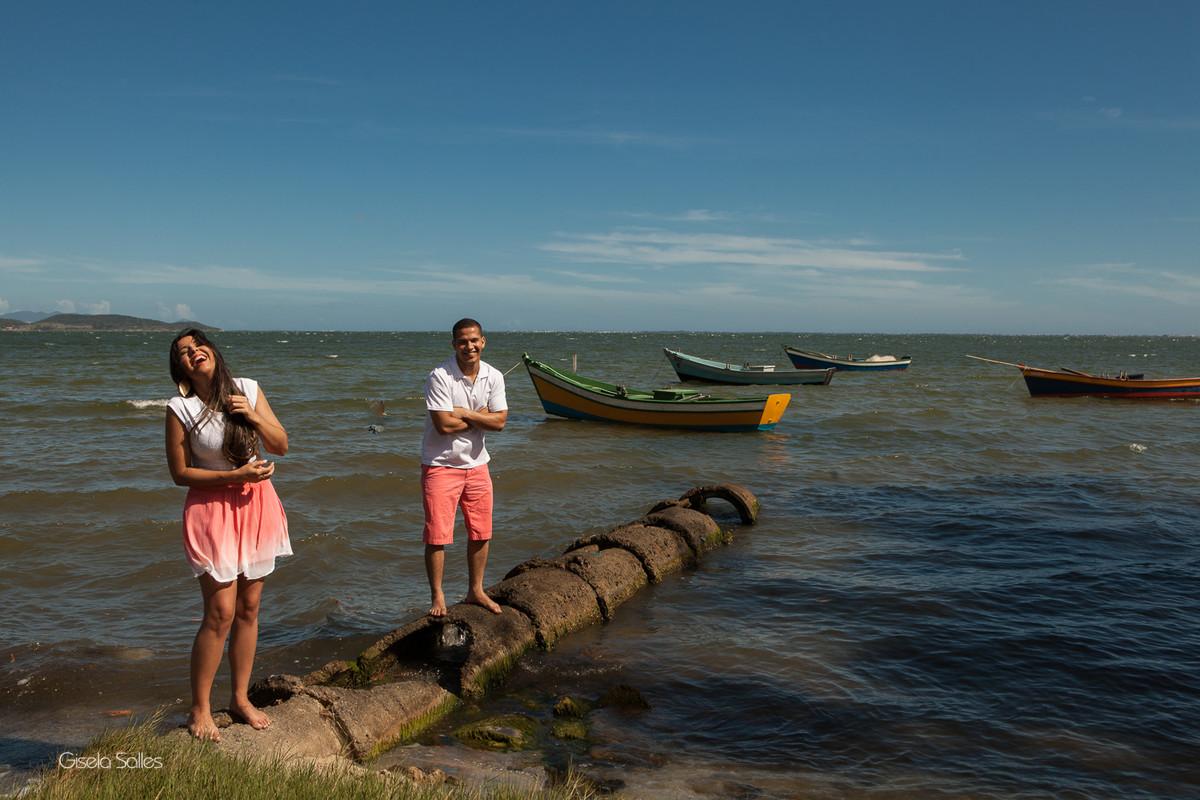 Ensaio pré casamento na Praia Linda