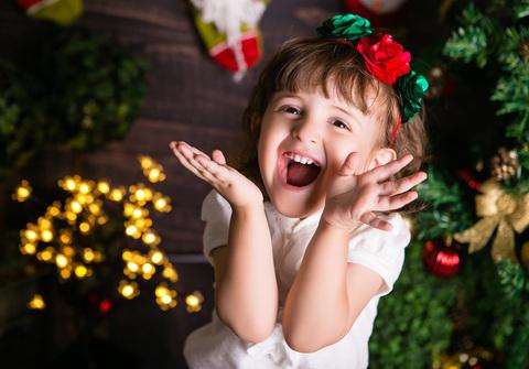 BEBÊ E CRIANÇA de Ensaio de Natal 2015