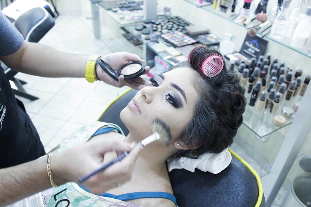 debutante maquiagem