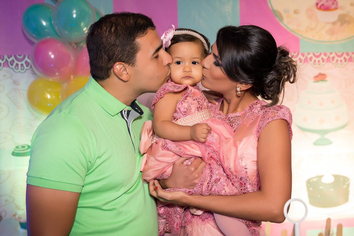 aniversario de 1 ano foto com a família