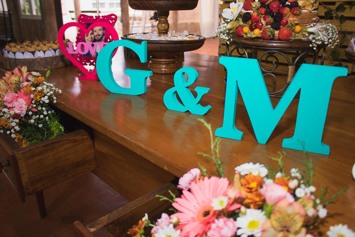 Detalhe da decoração na mesa dos noivos. Foto Marco Moscarelli. Casamento Clube Caça e Pesca Pelotas