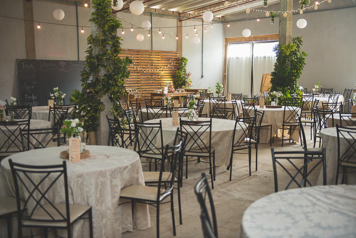 Fotografia panorâmica do salão da recepção dos noivos. Foto por Marco Moscarelli Fotógrafo