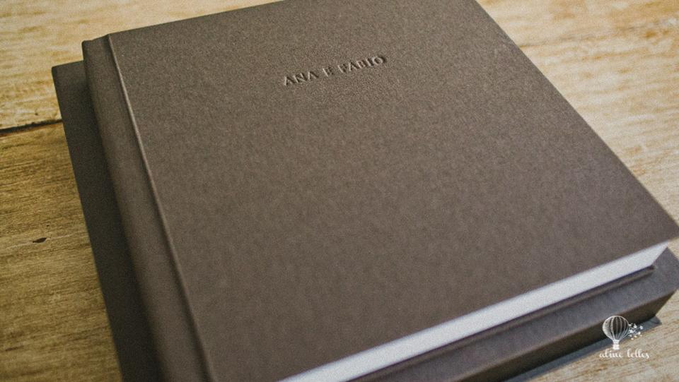 Album de Casamento fino e elegante | Revestimento de material sintético | Aline Lelles Fotografia Afetiva