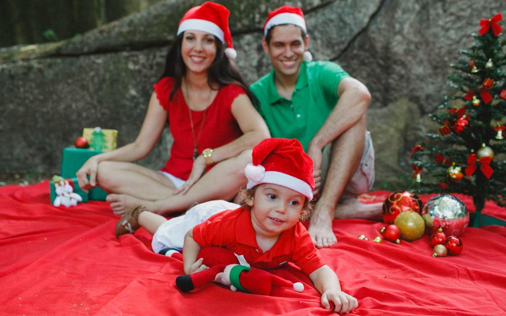 Rio de Janeiro - RJ | Ensaio Externo com a família do Antônio | Sessão de Fotos Natalinas
