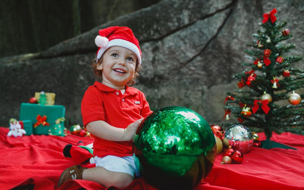 Enfeite de Natal | Árvore de Natal | Papai Noel | Fotografia de Família | Fotografia Externa