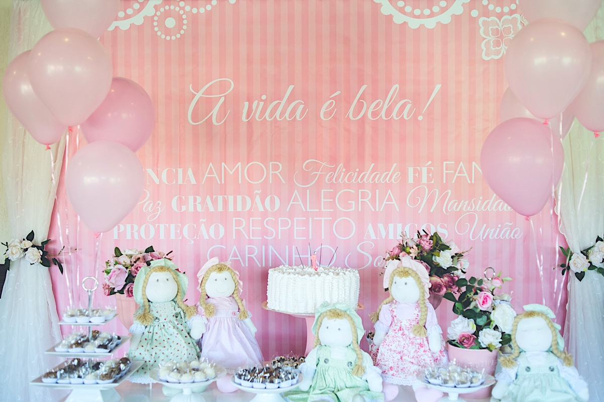aniversário - ana luísa - um ano - mãe de menina - boneca de pano - são bento do sul - chroma fotografia