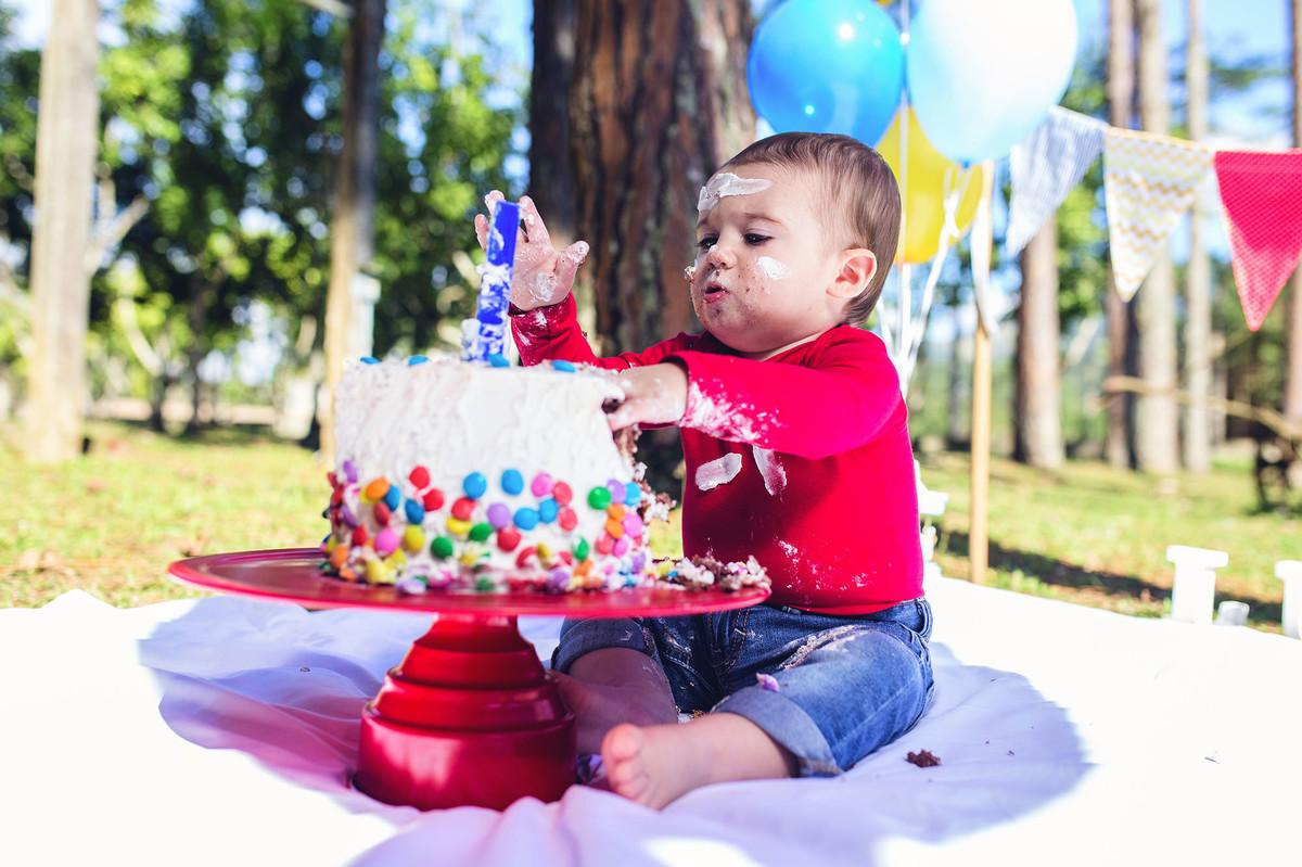 ensaio fotográfico - smash the cake - luigi