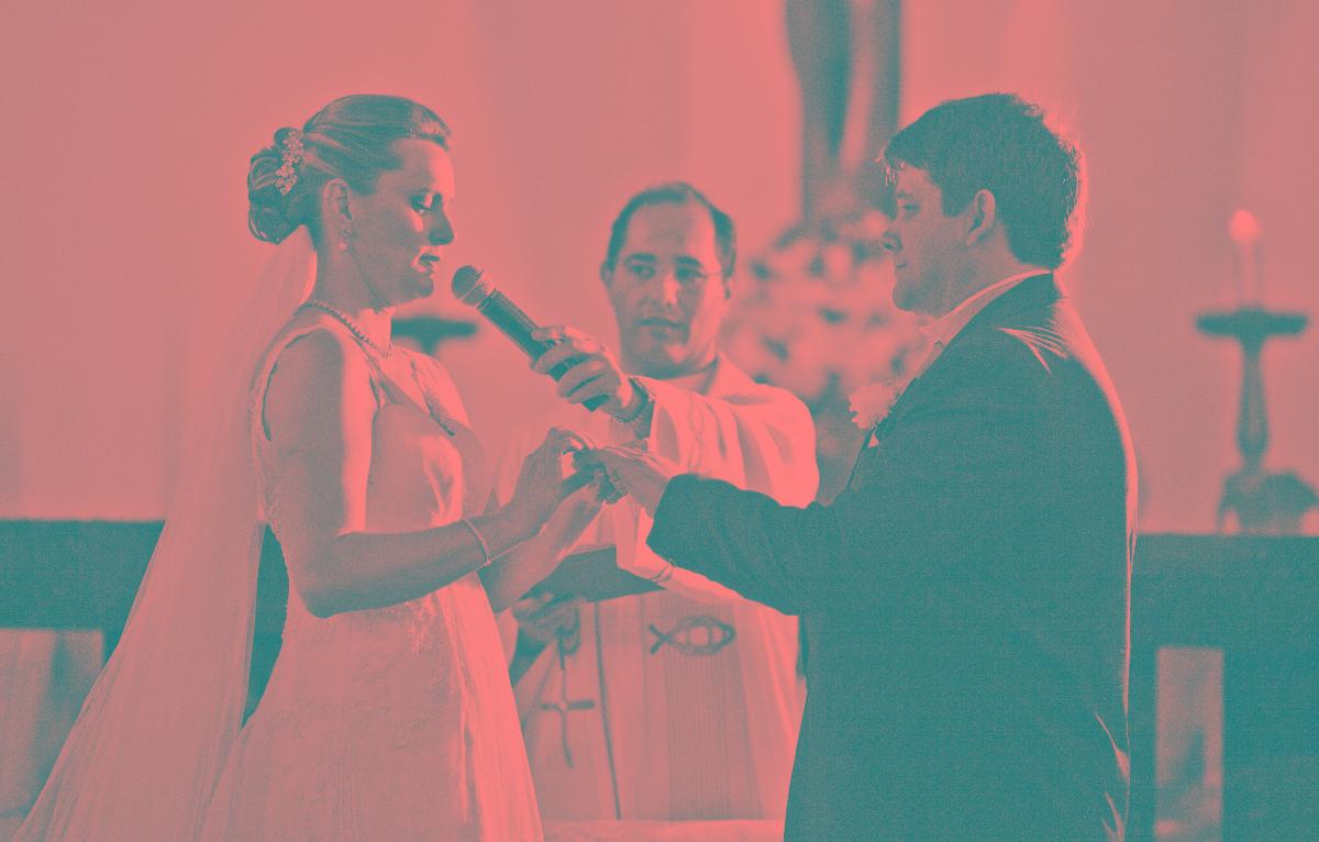 Foto de Adriana e Luiz Felipe