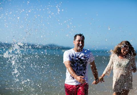Engagement Session de Ensaio Talyne e Marcos | Um dia de verão em Floripa