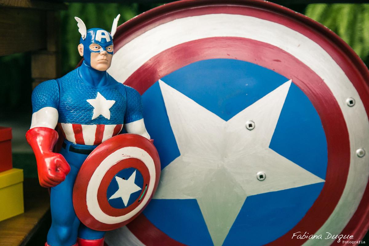festa infantil capitão américa