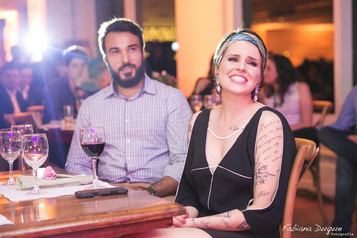 Fotos da festa surpresa no espaço Vivaldi em São Paulo