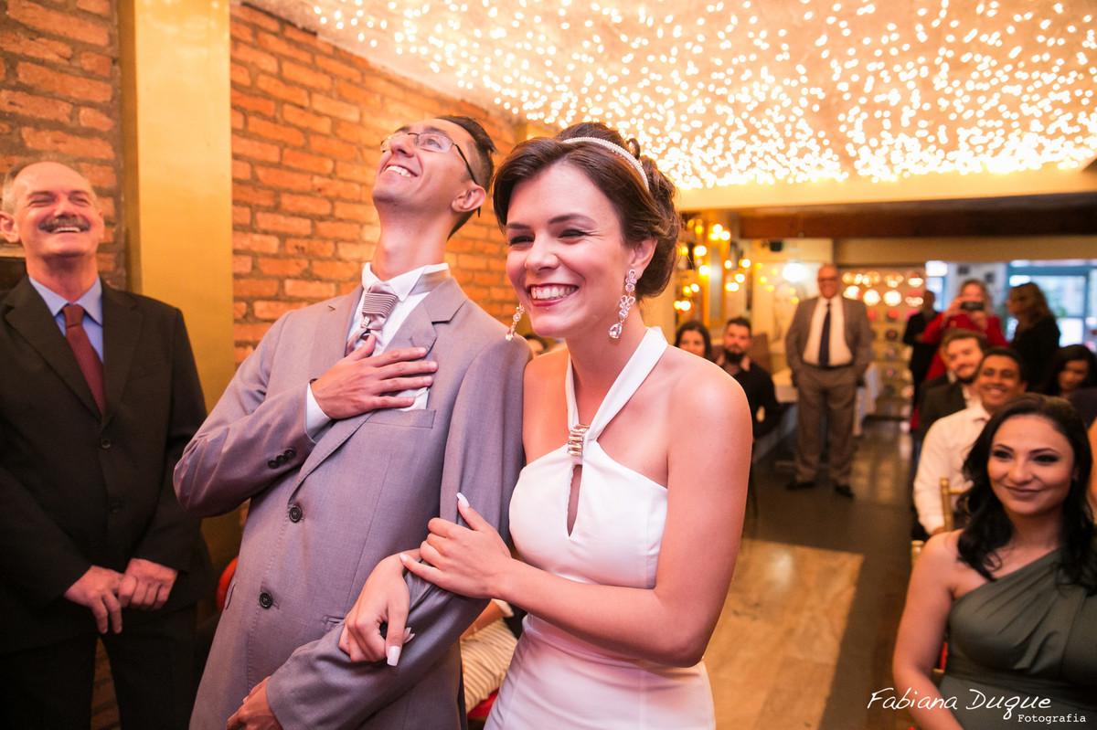Mini wedding realizado no Bistrô Ruella Mario Ferraz fotografado