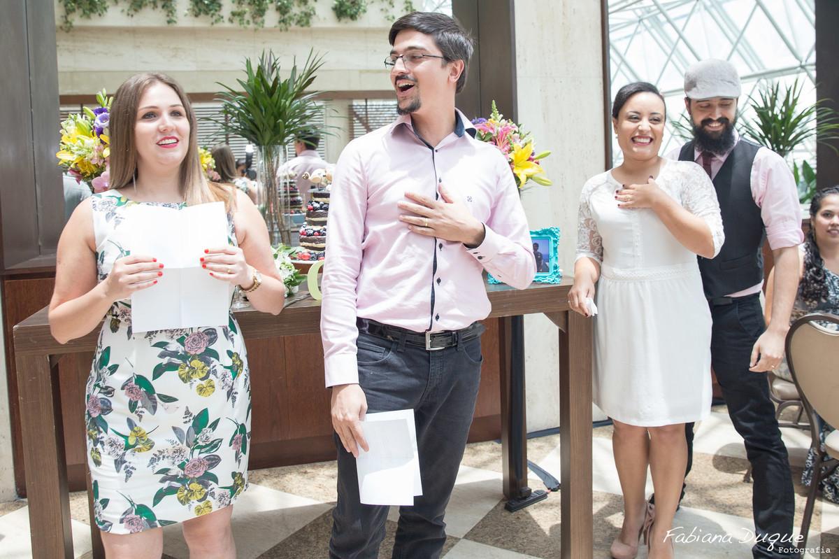 Padrinhos dos noivos, casamento no Hotel Renaissance em São Paulo