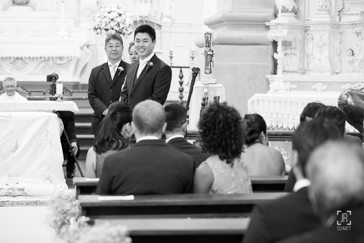reação do noivo