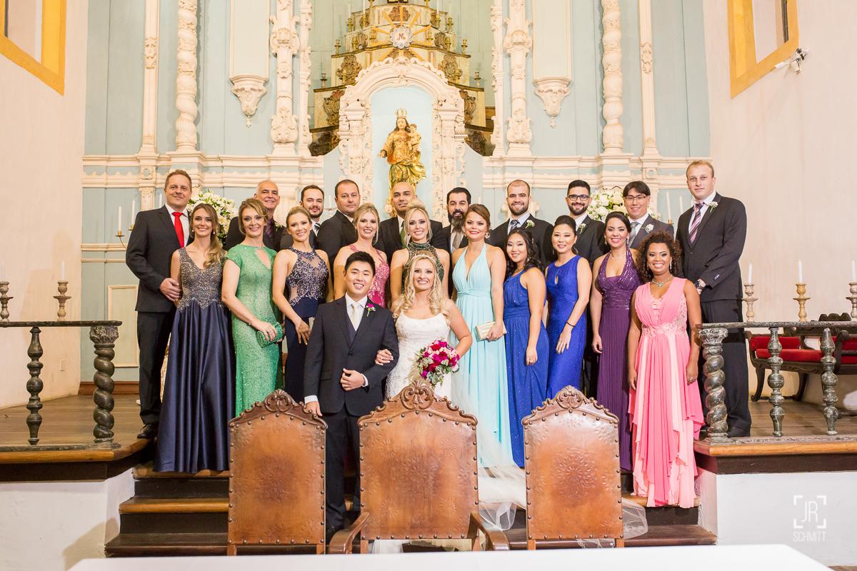 foto clássica testemunhas no altar