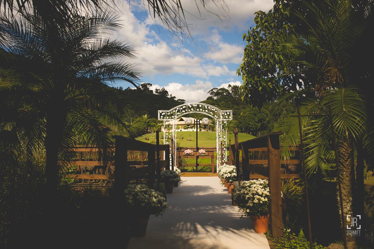 Local da cerimônia - Casamento de dia