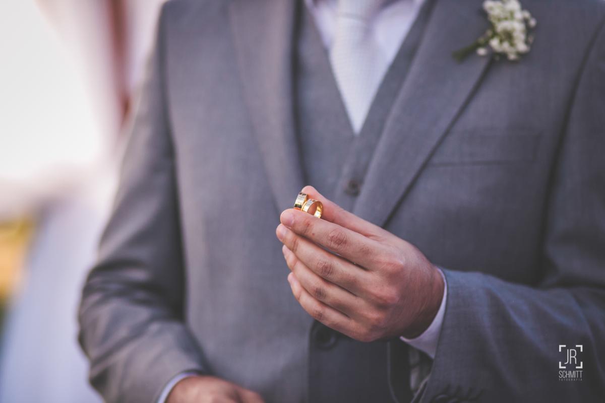 alianças no casamento