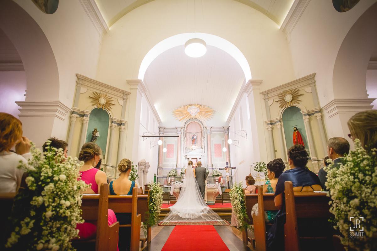 casamento na igreja do centro histórico de são josé - sc