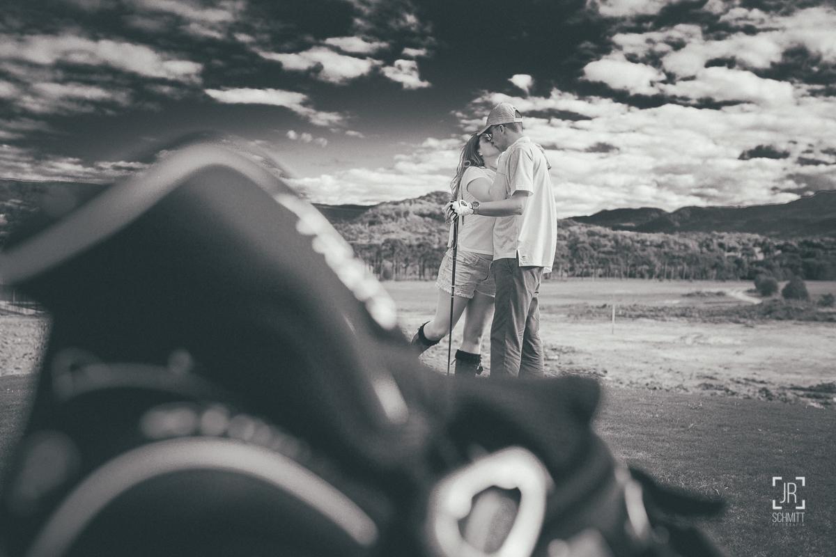 pre wedding no campo de golf