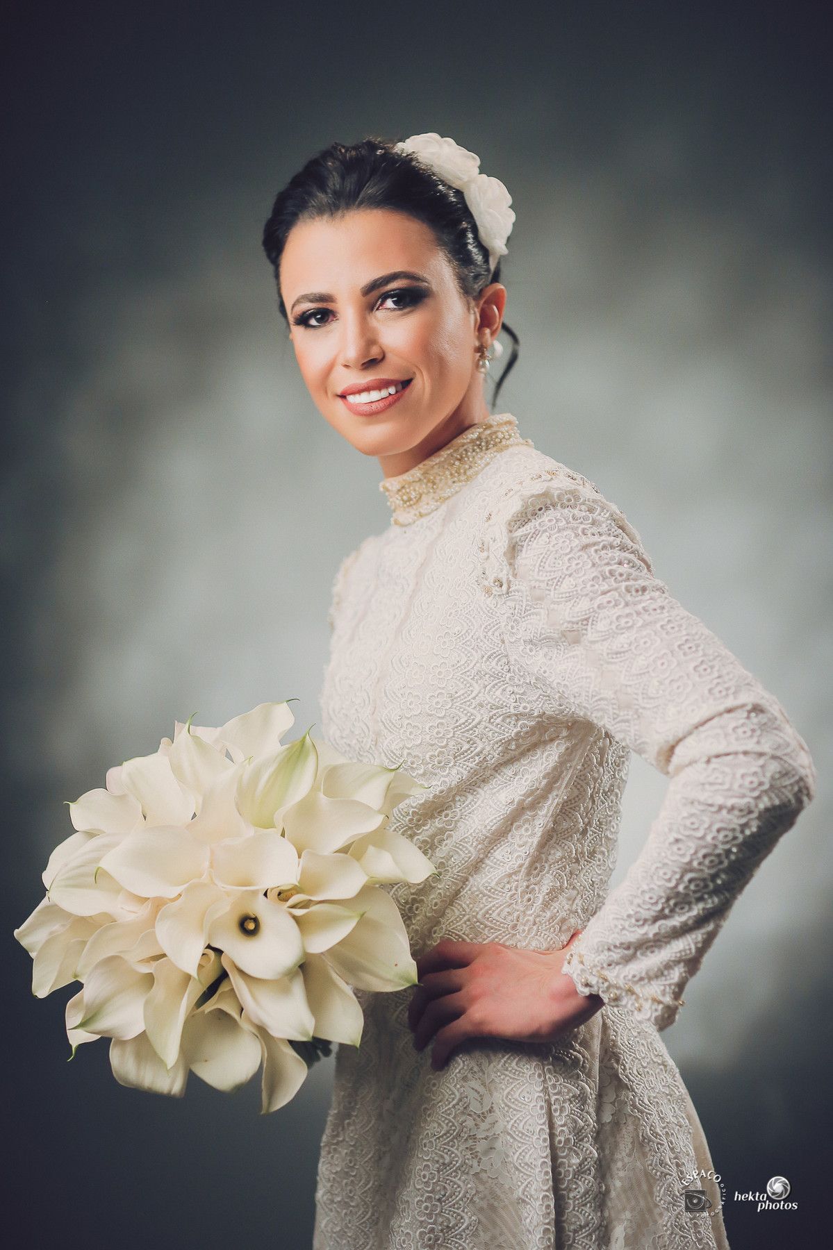 O vestido da noiva super contemporâneo