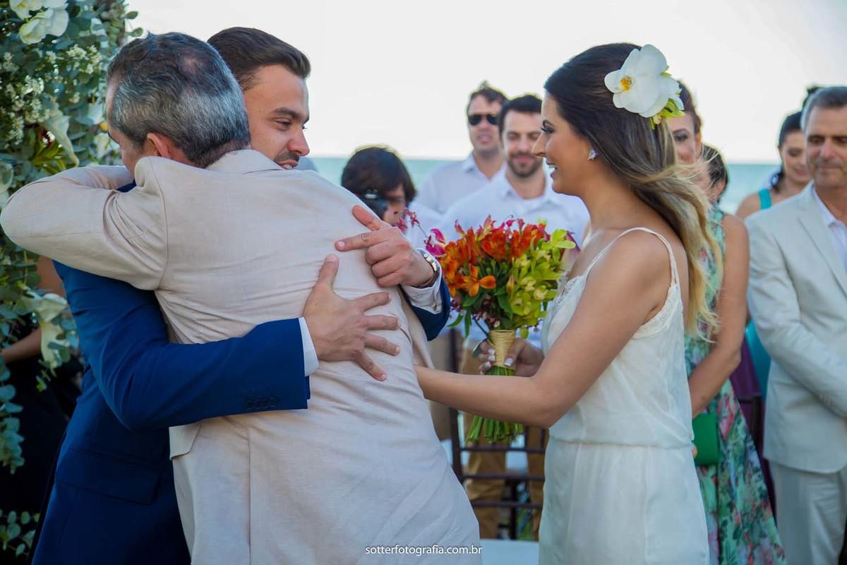 emoção do noivo
