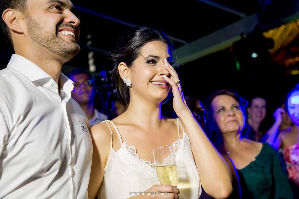 emoção da noiva