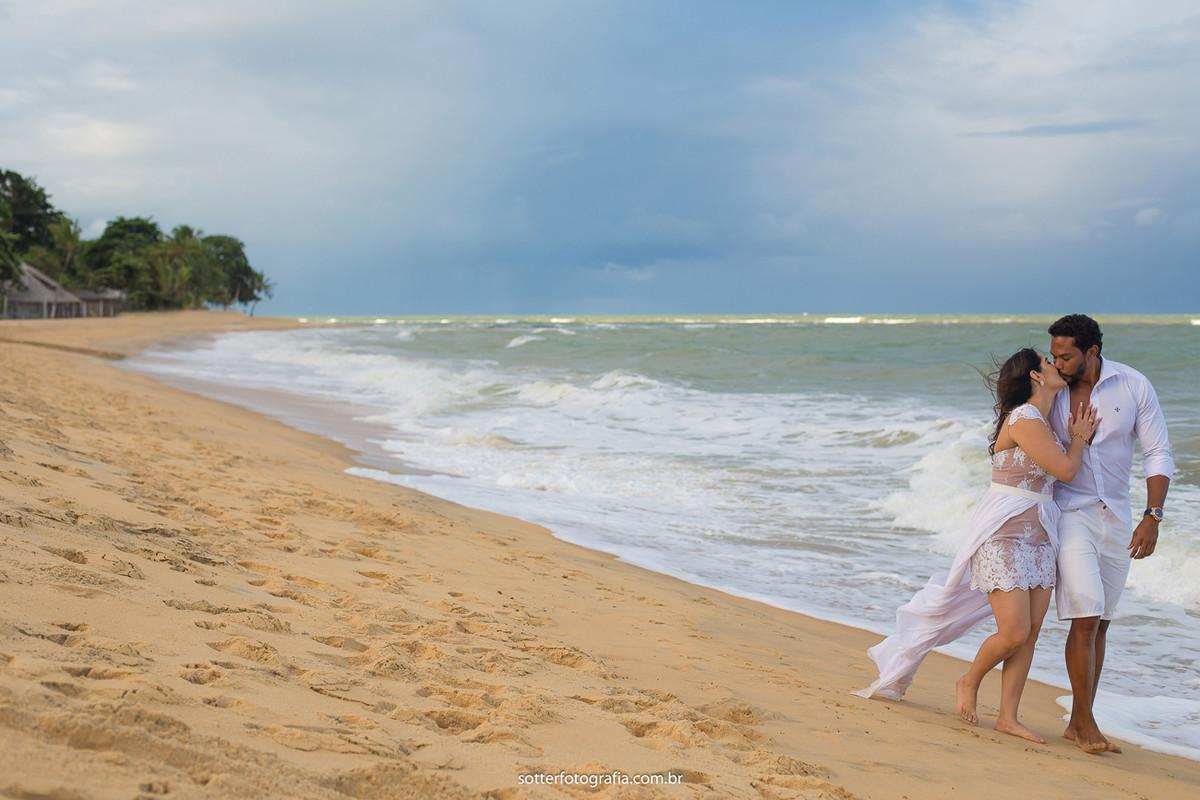 praia com noivos trancoso casamento sotter fotografia
