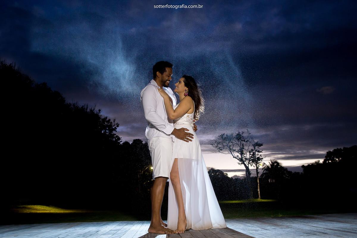 usando luzes sotter fotografia casamento