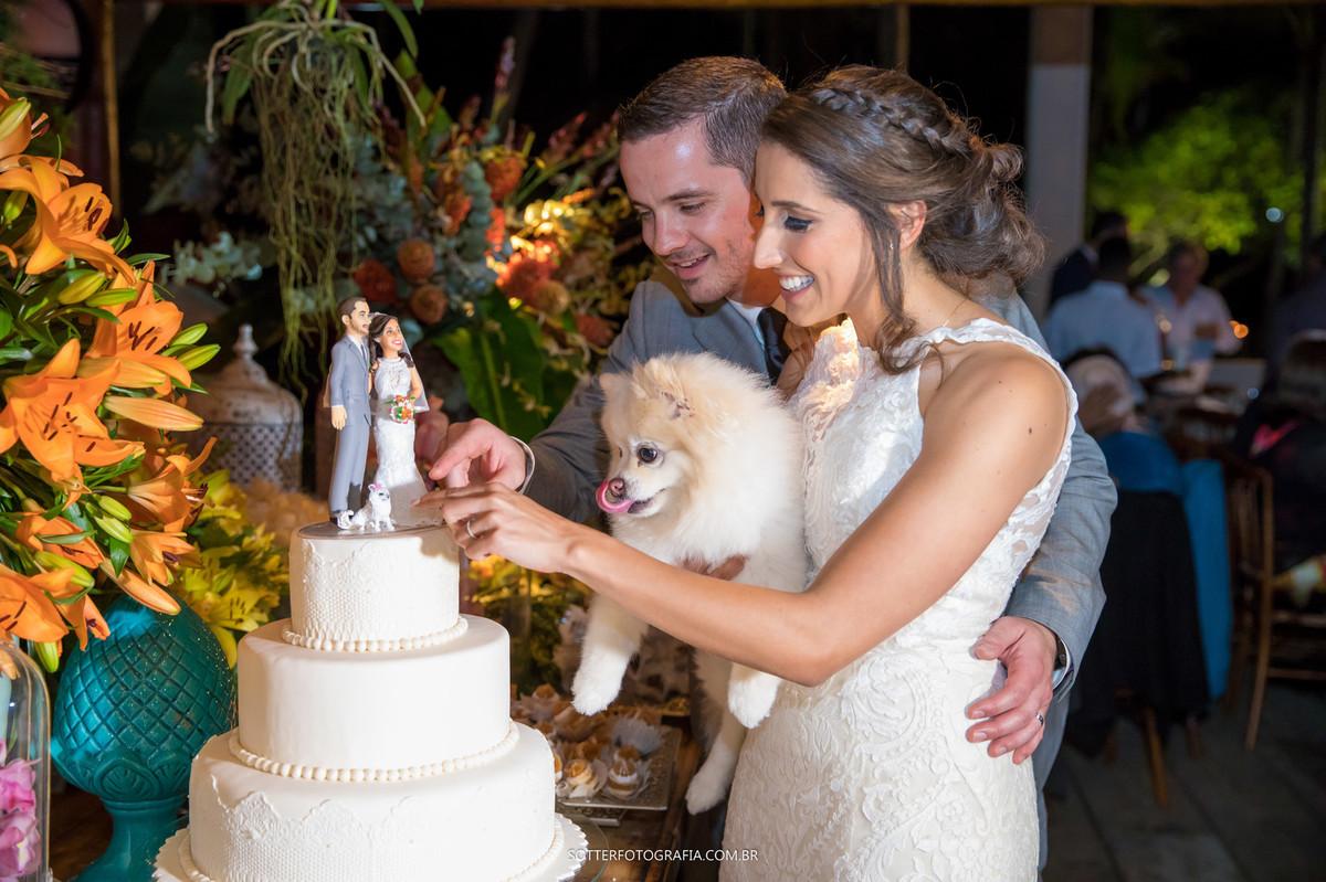 cachorro no bolo, sotter fotografia, casamento trancoso
