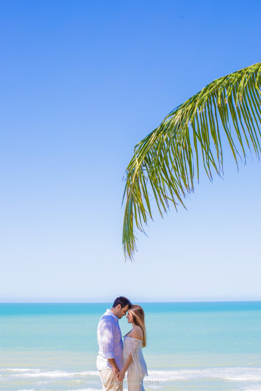 ensaio de casal com coqueiro casamento trancoso sotter