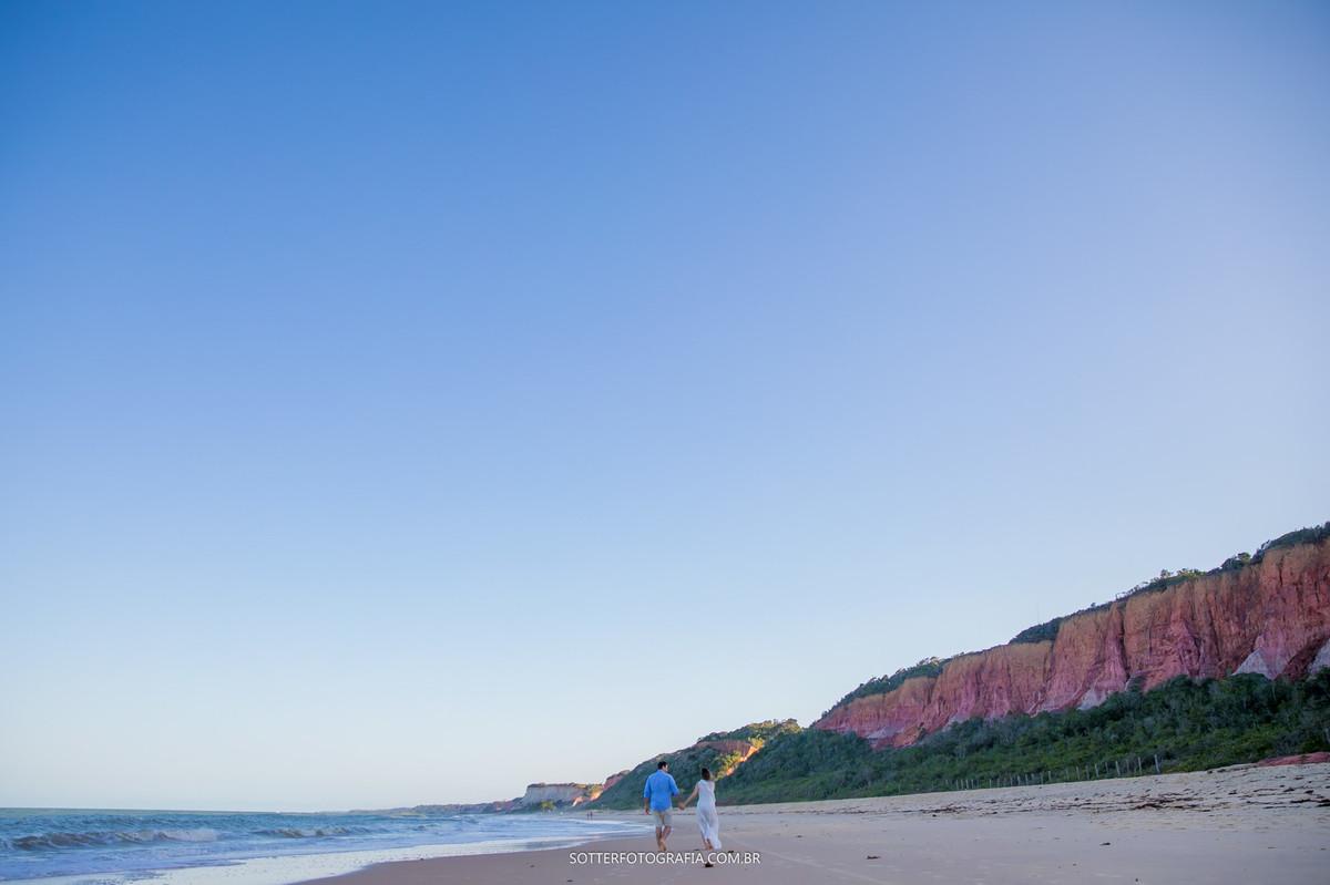 caminhando na praia, sotter fotografia, casamento
