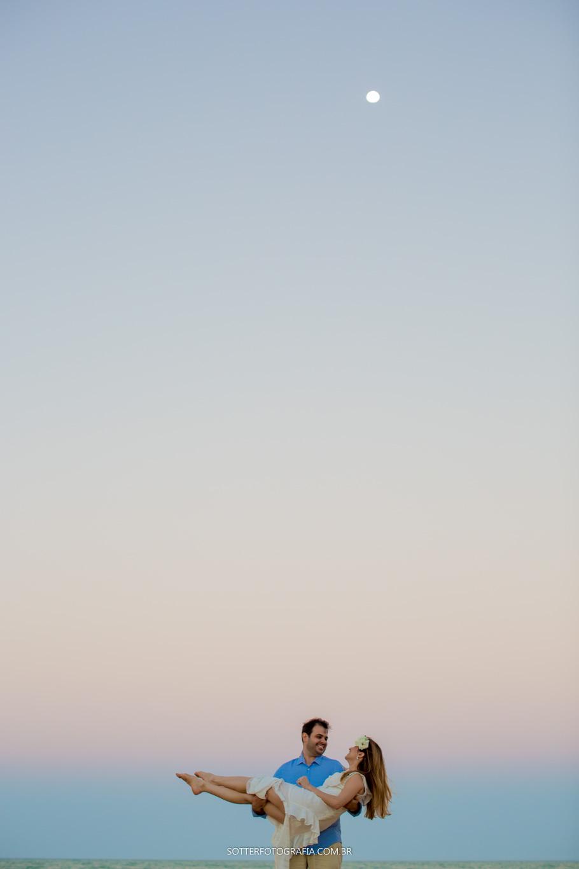 lua no mar, sotter fotografia