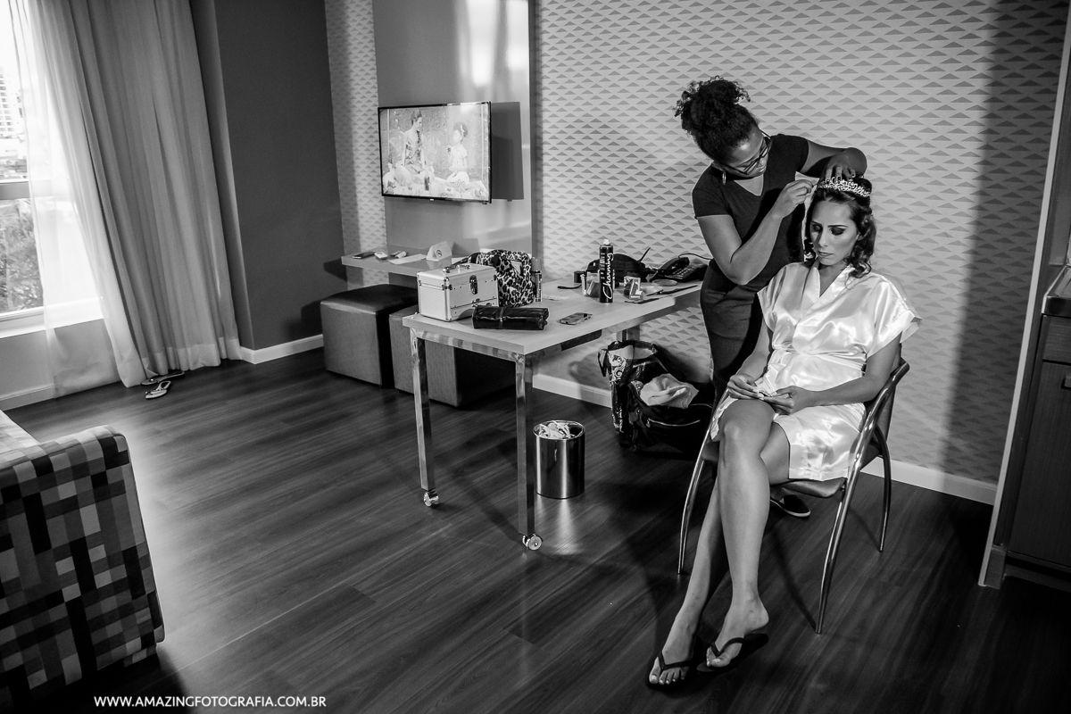 Coube a Amazing Fotografia o registo do Making Of de noiva realizado no Hotel Hilton