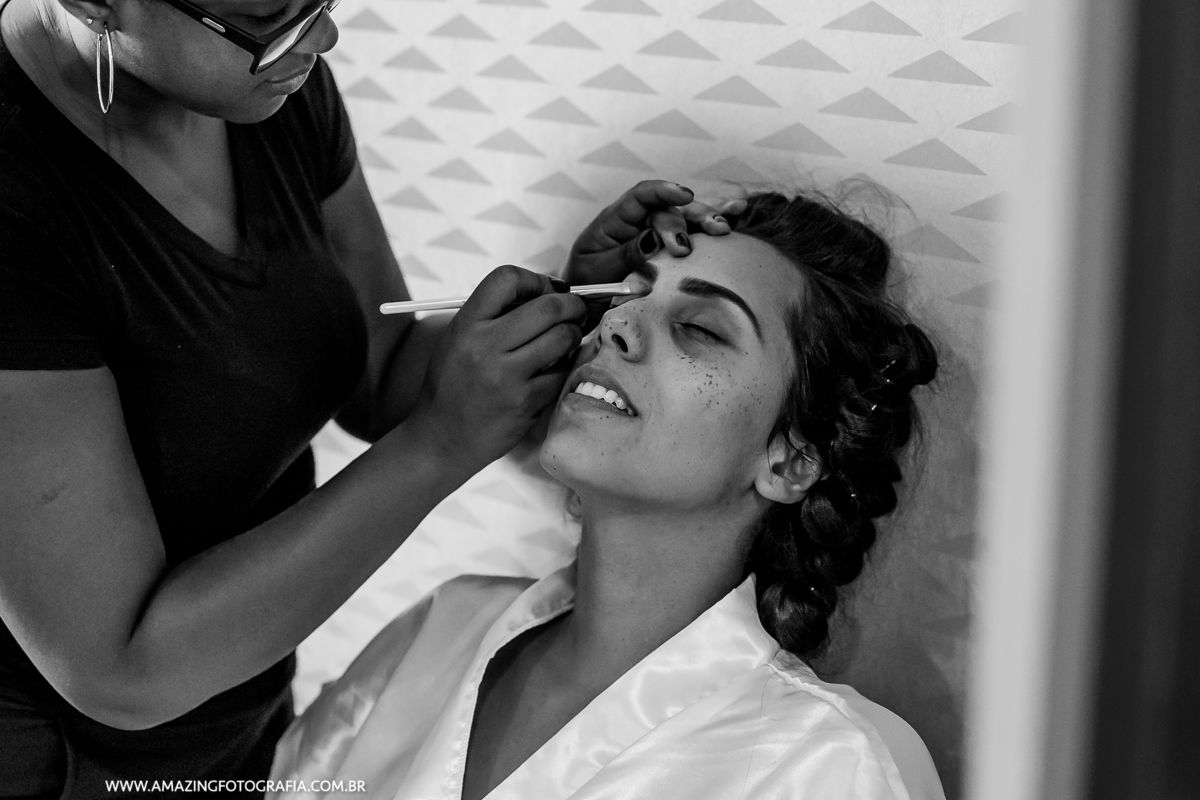 Making Of da Noiva registrado pela Amazing Fotografia no Hotel Hilton